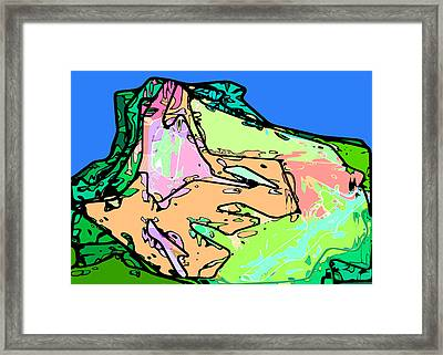 Butte Framed Print