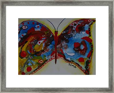 Butter Fly Framed Print