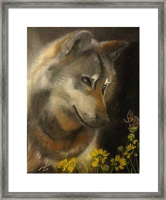 Butter-wolf Framed Print