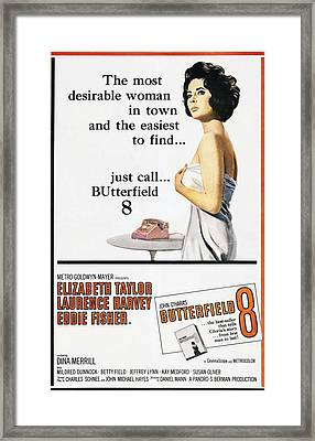 Butterfield 8, Elizabeth Taylor, 1960 Framed Print by Everett