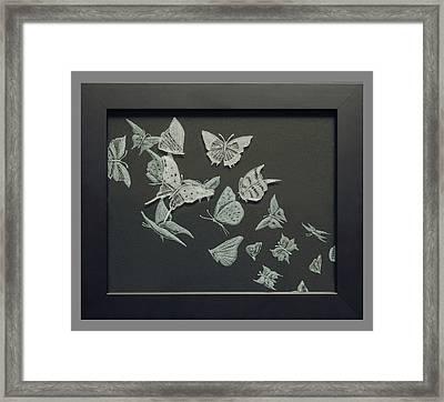 Butterflies Framed Print by Akoko Okeyo