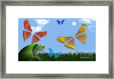 Butterflies Are Free To Fly Framed Print by Andee Design