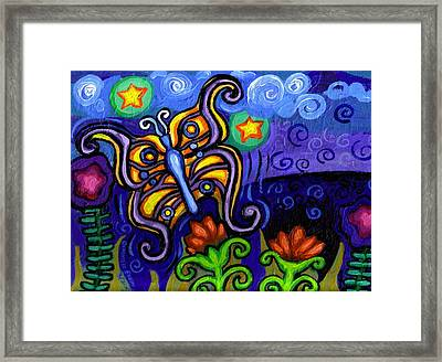 Butterfly At Dusk Framed Print by Genevieve Esson