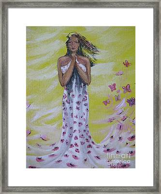 Framed Print featuring the painting Butterfly by Barbara Hayes