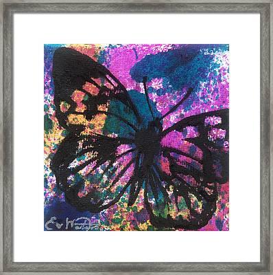Butterfly Bliss Framed Print by Oddball Art Co by Lizzy Love
