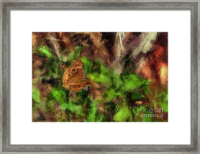 Framed Print featuring the photograph Butterfly Camouflage by Dan Friend