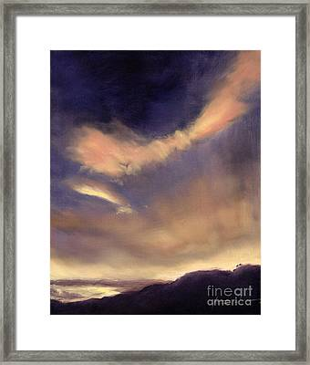 Butterfly Clouds Framed Print by Antonia Myatt