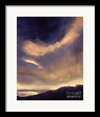 Cloud Formation Sunset Dusk Orange Sky Atmospheric Clouds Cloudscape Framed Prints