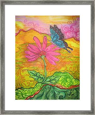 Butterfly Discoveries Framed Print