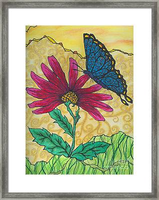 Butterfly Explorations Framed Print