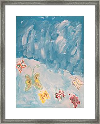 Framed Print featuring the painting Butterfly Flight by Sonali Gangane