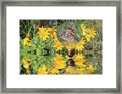 Butterfly In A Bulb II - Landscape Framed Print