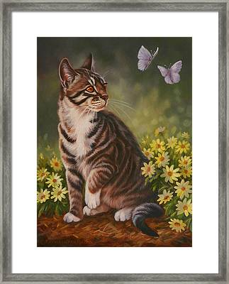 Butterfly Kisses Framed Print by Kathleen  Hill