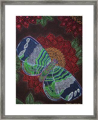 Butterfly Landing Framed Print