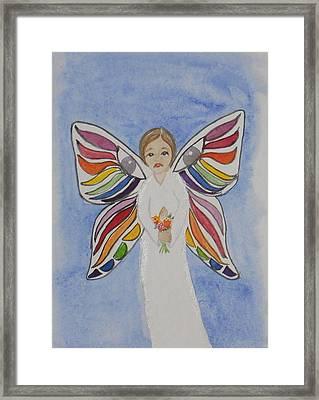 Butterfly People Sympathy Framed Print by DJ Bates