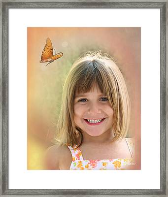Butterfly Smile Framed Print