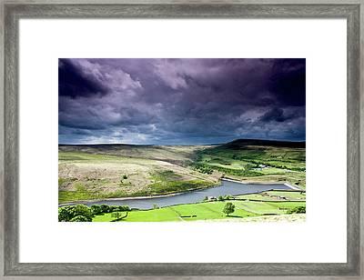 Butterley Reservoir Framed Print by Andy Leader Www.madeinholmfirth.co.uk