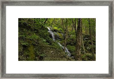 Buttermilk Falls - Tillmans Ravine Framed Print