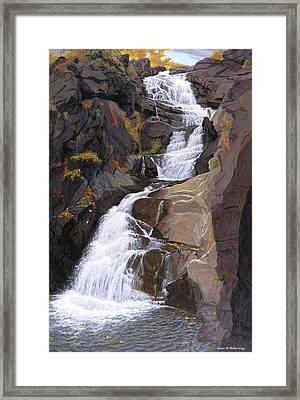 Buttermilk Falls Framed Print by Glen Heberling