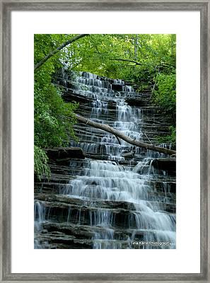 Buttermilk Falls Framed Print by Tina Karle
