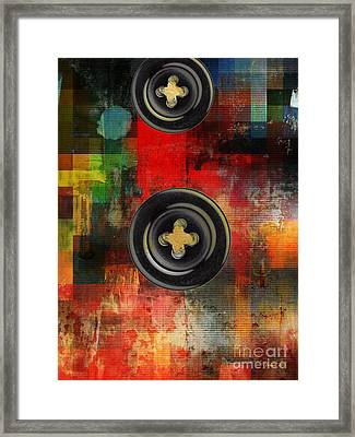 Button To The Top Framed Print by Fania Simon