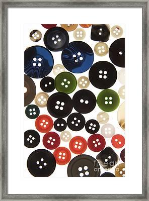 Buttons Framed Print by Bernard Jaubert