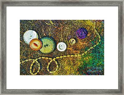 Buttons Framed Print by Gwyn Newcombe