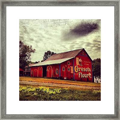 Buy Flour. #barn #pa #pennsylvania Framed Print by Luke Kingma