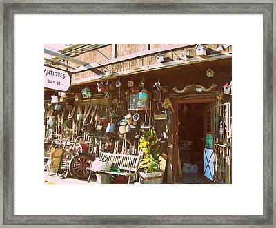 Framed Print featuring the photograph Buy - Sell by MJ Olsen