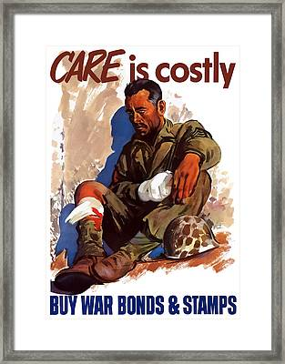 Buy War Bonds And Stamps Framed Print