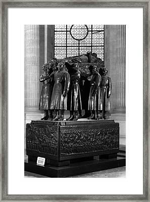 Bw France Paris Invalides Marshal Foch Tomb 1970s Framed Print by Issame Saidi