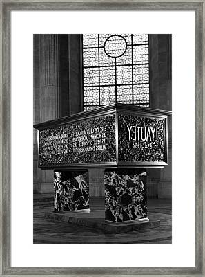 Bw France Paris Marshal's Lyautey Tomb 1970s Framed Print by Issame Saidi
