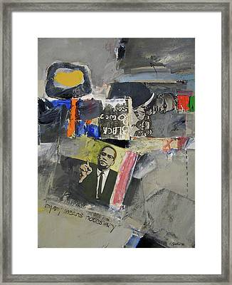 Framed Print featuring the painting By Any Means by Cliff Spohn