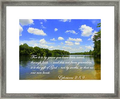 by Grace alone Framed Print by Sheri McLeroy