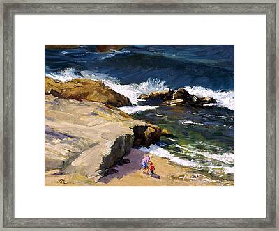 By The Beautiful Sea Framed Print