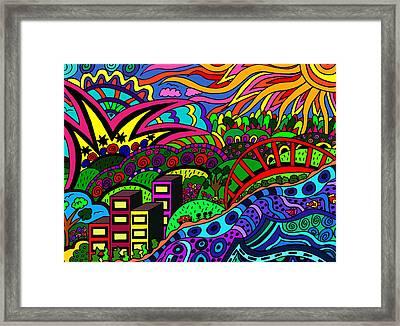 By The Lake Framed Print by Karen Elzinga
