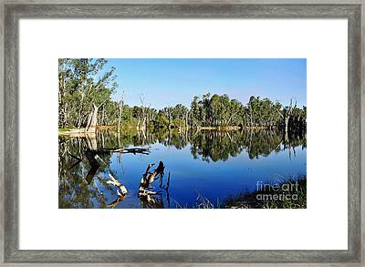 By The River Framed Print by Kaye Menner