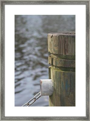 By The River Framed Print by Lou Belcher