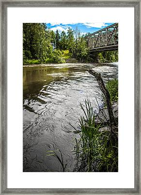 By The River Framed Print by Matti Ollikainen