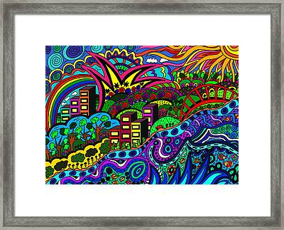 By The River Side Framed Print