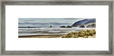 By The Sea - Seaside Oregon State  Framed Print