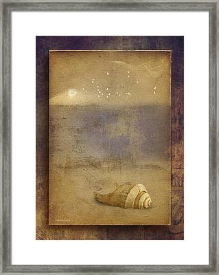 By The Sea Framed Print by Ron Jones