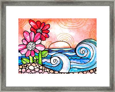By The Shore Framed Print by Robin Mead