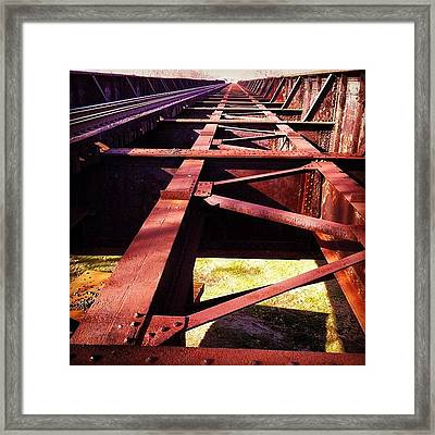 By The Train Tracks Framed Print by  Abril Andrade Griffith