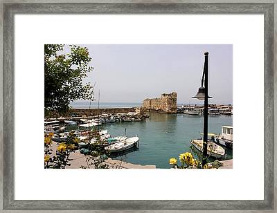 Byblos Waterfront Framed Print by Tia Anderson-Esguerra