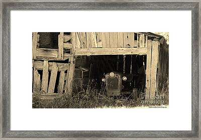 Framed Print featuring the photograph Bygone Era by Laurinda Bowling