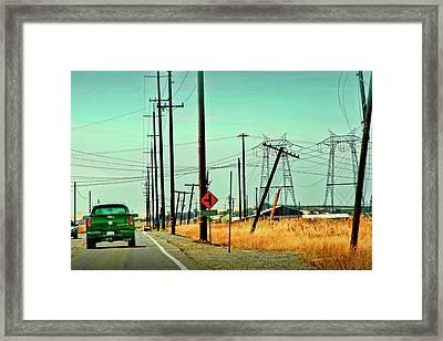 Byron Highway Framed Print