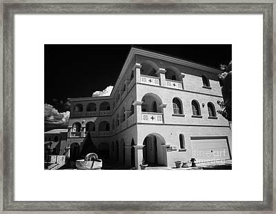 Byzantine Museum And Holy Bishopric Of Arsenoe In Peristerona Village Republic Of Cyprus Europe Framed Print by Joe Fox