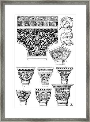 Byzantine Ornament Framed Print by Granger