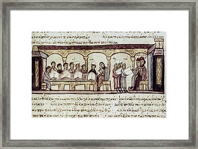 Byzantine Philosophy School Framed Print by Granger